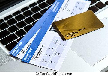 kaartjes, luchtroute, aankoop