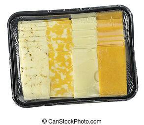 kaas, blad, schijfen