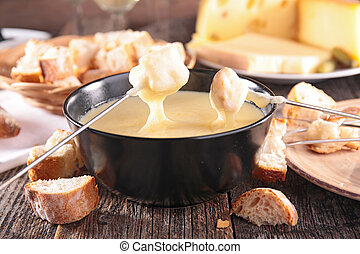 kaas, fondue