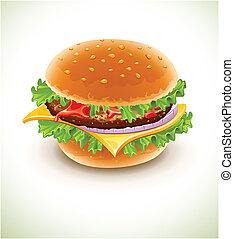 kaas, hamburger