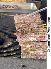 kabab shish, cuocere, pollo