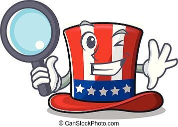 kabala, betű, kalap, sam nagybácsi, nyomozó