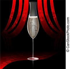 kabaret, šampaňské