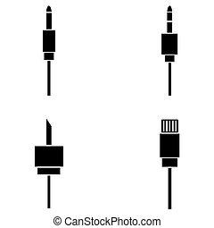 lan kabel stecker lan steckdose heiligenbilder vektoren illustration suche clipart. Black Bedroom Furniture Sets. Home Design Ideas