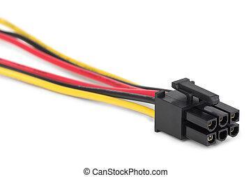 kabel, macht, verbinder