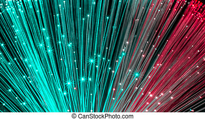kabel, optisch, netwerk, vezel