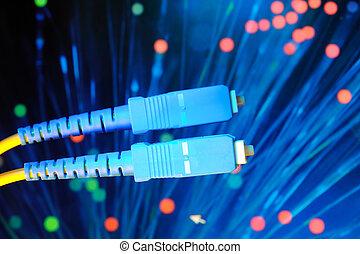 kabel, optisch, vernetzung, faser