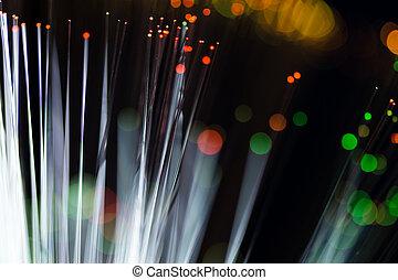 kabel, optisk, nätverk, fiber