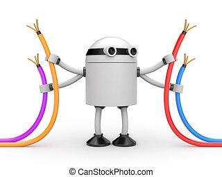 kabel, roboter