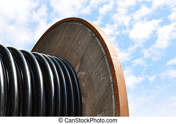 kabel, spule