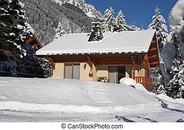 kabine, alpin