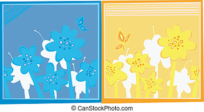kabiny, kwiat, dwa