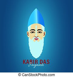 Kabir Das Jayanti a birth anniversary of Indian Poet from 15th Century. Abstract Design.