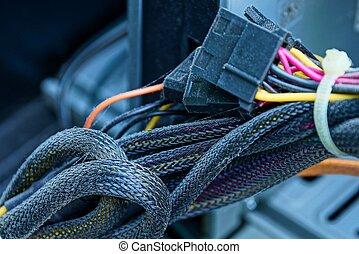 kablar, del, binder, dator