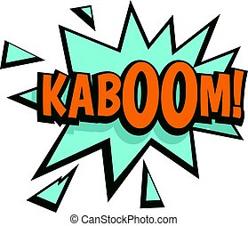 Kaboom, comic text sound effect icon isolated