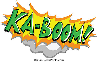 Kaboom - Retro Comic Text - Kaboom - Comic Expression Vector...