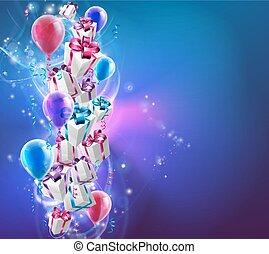 kadootjes, abstract, ballons, achtergrond