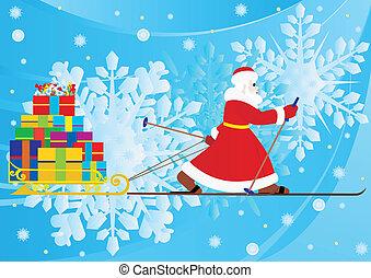 kadootjes, dragen, claus, kerstman