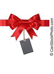 kadootjes, label, leeg, geschenk buiging