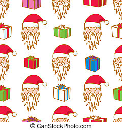 kadootjes, seamless, kerstman