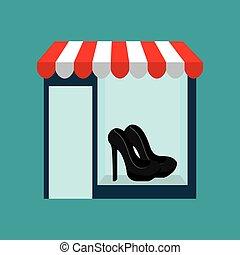 kadootjes, vrouw, schoentjes, koopt