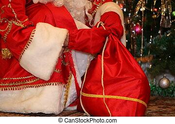 kadootjes, zak, claus, kerstman