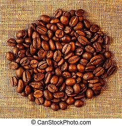 kaffe böna, säck