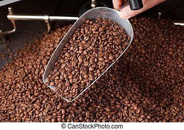 kaffe böna, sked