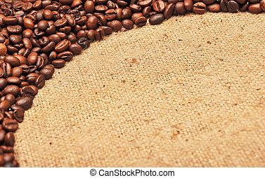 kaffe böna, vävnad