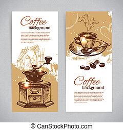 kaffe, baner, restaurang, cafe, sätta, meny, coffeehouse, ...