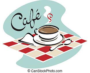 kaffe, cafe