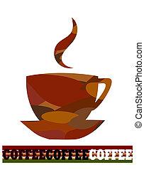 kaffe, design, artistisk
