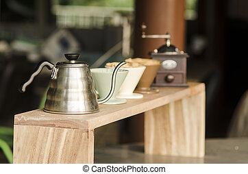 kaffe, droppa