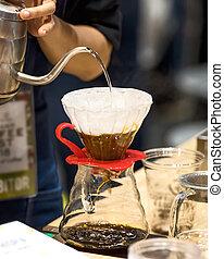 kaffe, droppa, style.