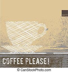 kaffe, illustration