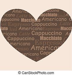 kaffe, kärlek