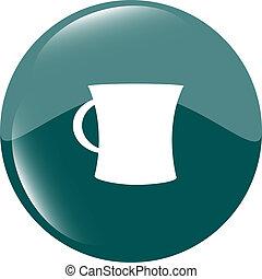 kaffe kopp, knapp, ikon