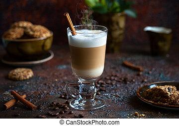 kaffe, latte