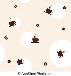 kaffe, mönster, seamless
