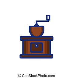kaffe maskin, ikon, isolerat, oxeltand
