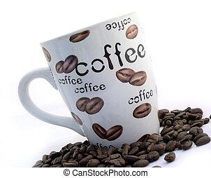 kaffe, och, bönor