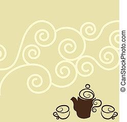 kaffe, tapet, design