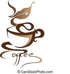 kaffe, underteckna