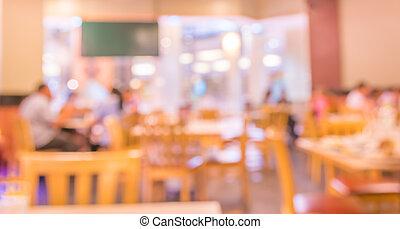 kaffeaffär, suddig fond