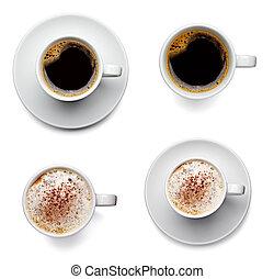 kaffee getränk, becher
