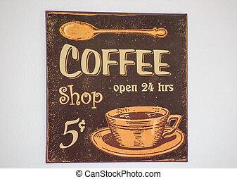 kaffeestube, zeichen