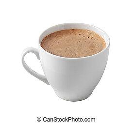 kaffeetasse, freigestellt, weiß