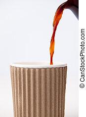 kaffeetasse, papier, gefüllt, wesen