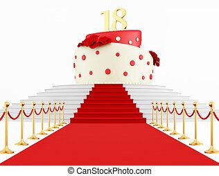 kage top, fødselsdag
