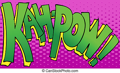 Kahpow Punch Sound - An image of a the word kahpow in a...
